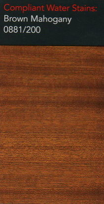 Morrells brown mahogany water stain for wood flooring